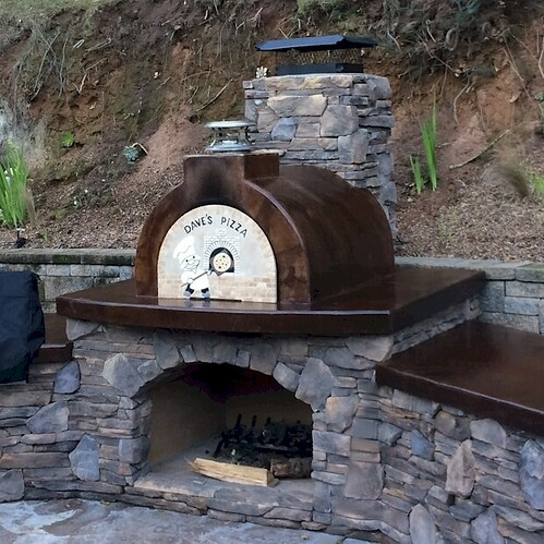 Pizza Oven over Fireplace