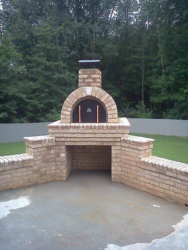 Making a Outdoor Pizza Oven (7)