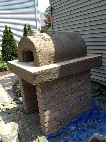 How To Build An Outdoor Brick Oven (73)