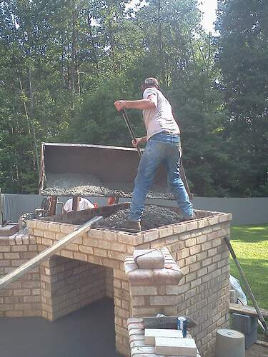 Making a Outdoor Pizza Oven (4)