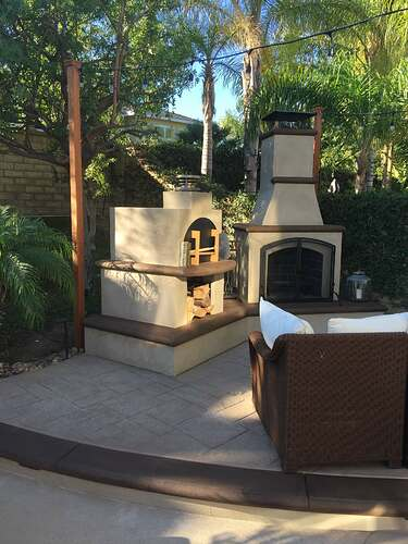 Outdoor Wood Fireplace (3)