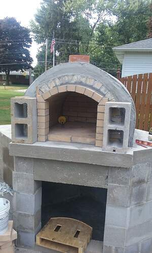 Outdoor Fireplace Pizza Oven Combo (11)