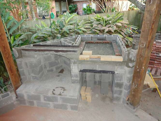 Outdoor Natural Stone Fireplace (2)