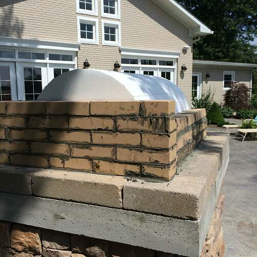 Making An Outdoor Pizza Oven (12)