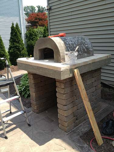 How To Build An Outdoor Brick Oven (63)