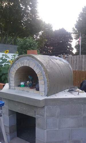 Outdoor Fireplace Pizza Oven Combo (10)