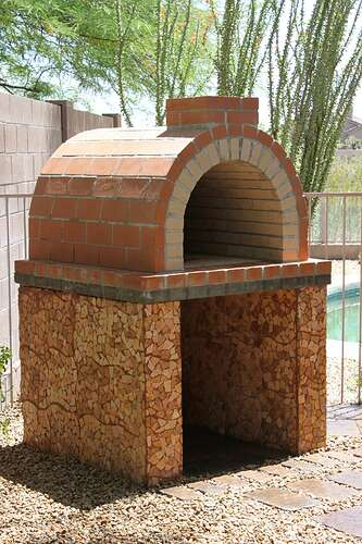 How To Build a Wood Fired Brick Oven (24)
