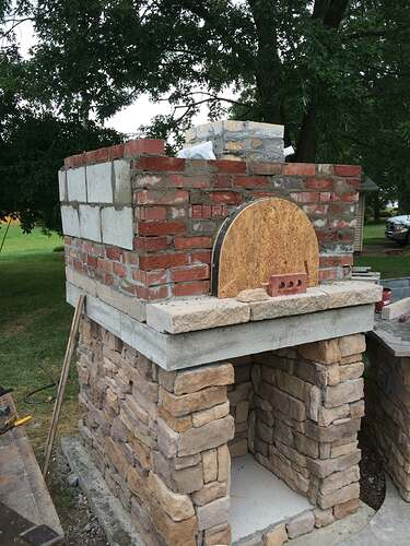 Making An Outdoor Pizza Oven (24)