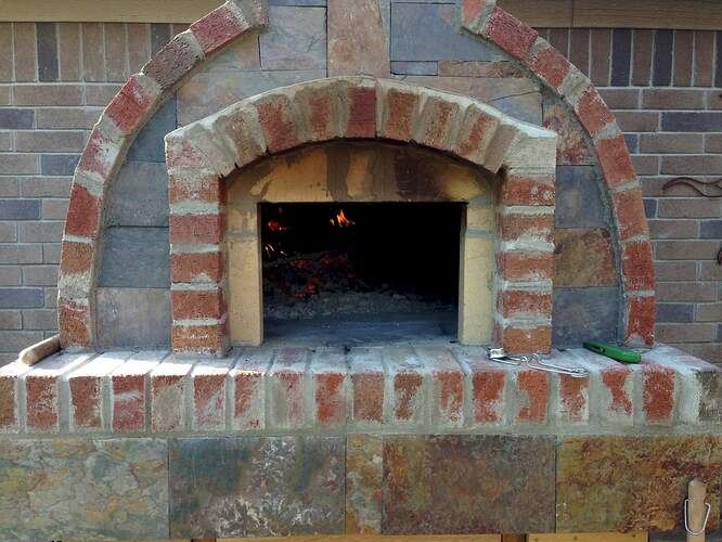 How To Make A Brick Pizza Oven (10)