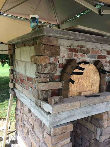 Making An Outdoor Pizza Oven (28)