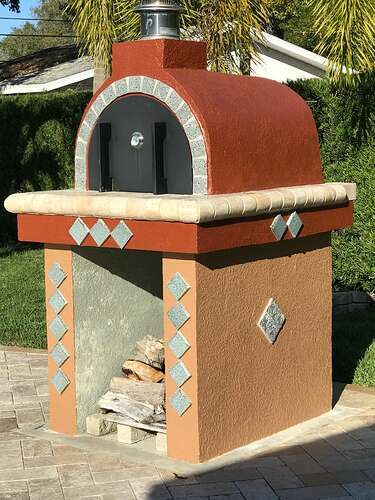 Pizza Oven Painted Stucco (3)