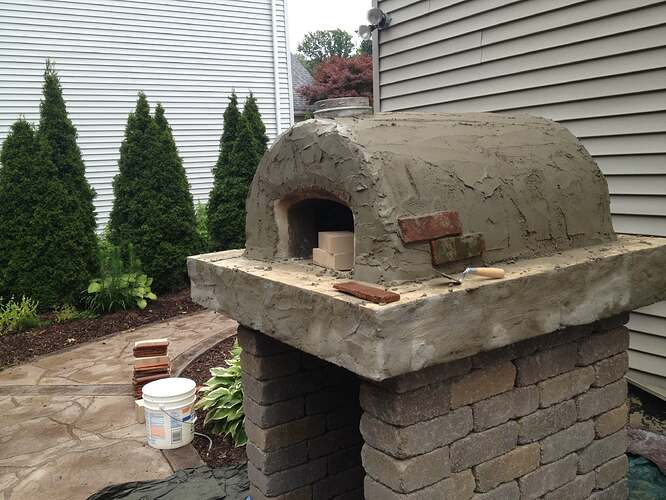 How To Build An Outdoor Brick Oven (84)