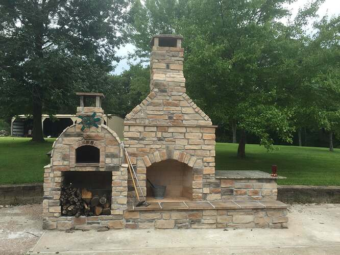 Outdoor Stone Fireplace (8)