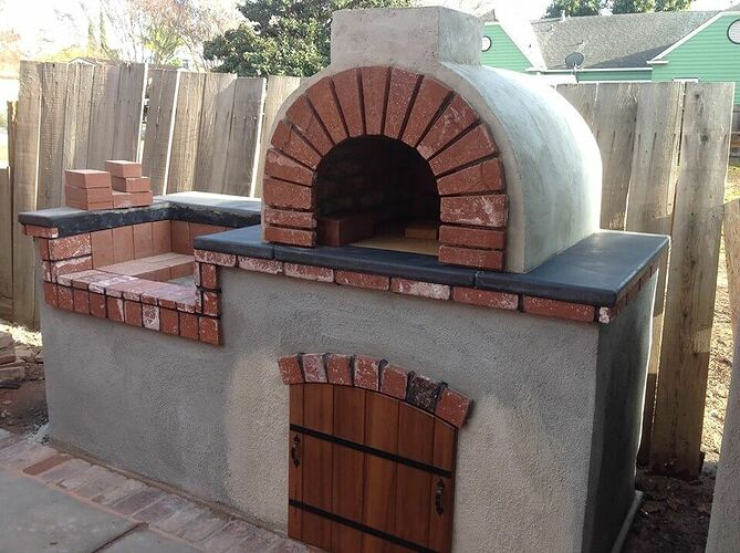 How To Build a Brick BBQ and Pizza Oven (18)