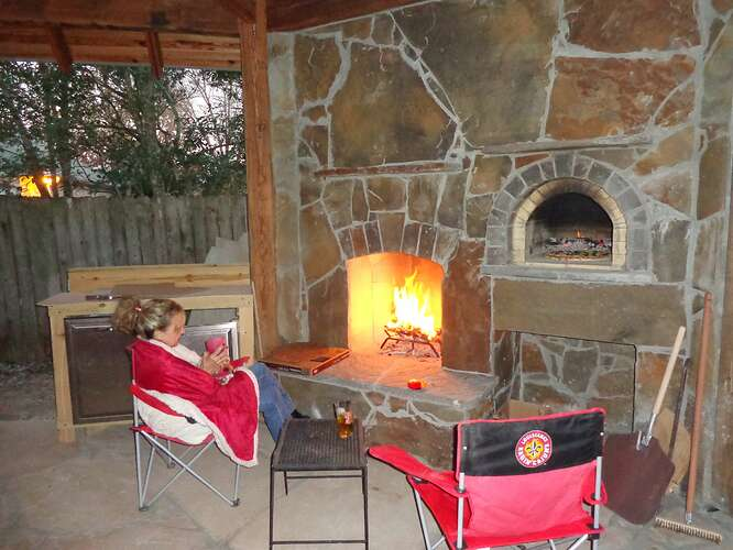 Outdoor Natural Stone Fireplace (24)