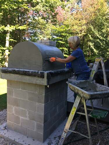 How To Make A Wood Fired Pizza Oven (34)