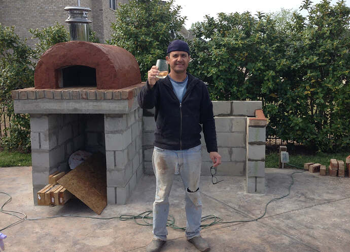 Build A BBQ And Pizza Oven (16)