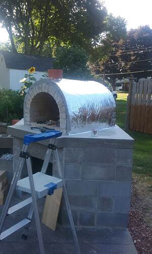 Outdoor Fireplace Pizza Oven Combo (26)