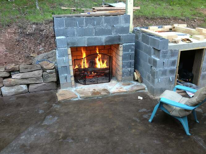 Outdoor Fireplace and Seating (5)