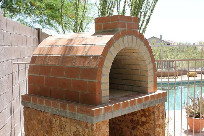 How To Build a Wood Fired Brick Oven (22)
