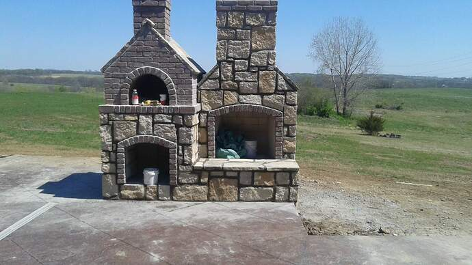 Concrete Outdoor Fireplace (1)