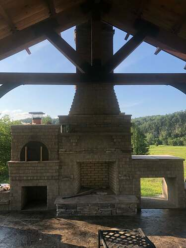 Outdoor Fireplace With Pergola (1)