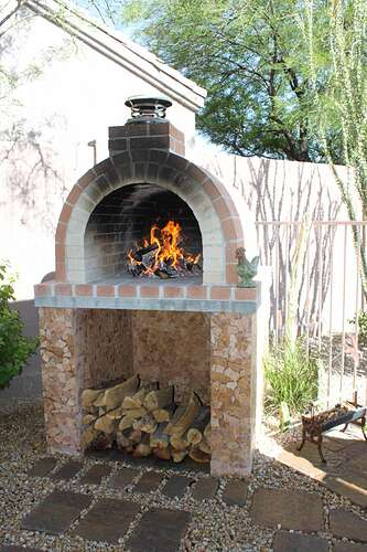 How To Build a Wood Fired Brick Oven (27)