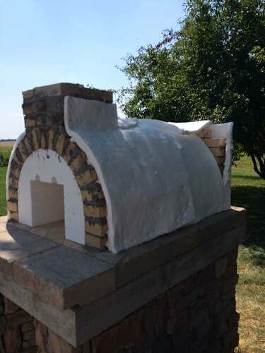 Making An Outdoor Pizza Oven (18)