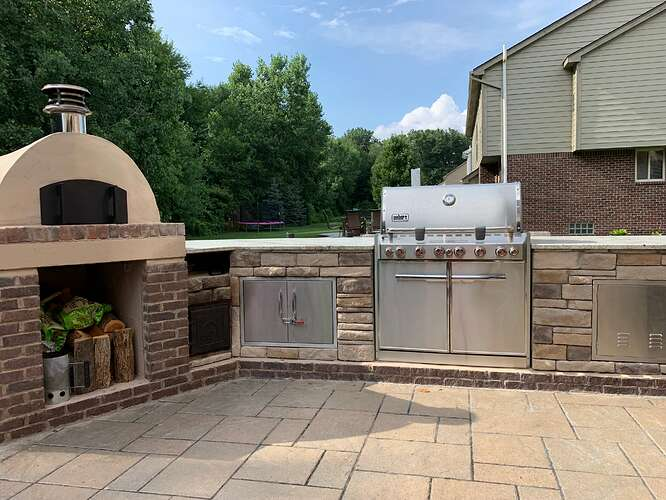 Outdoor Grill Oven Combo