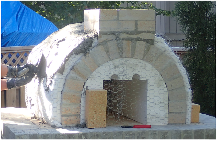 STUCCO ON PIZZA OVEN BY BRICKWOOD OVENS