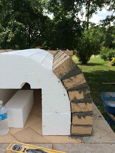 Making An Outdoor Pizza Oven (15)