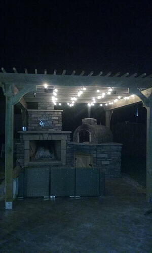 Outdoor Fireplace Pizza Oven Combo (17)
