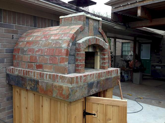 How To Make A Brick Pizza Oven (9)