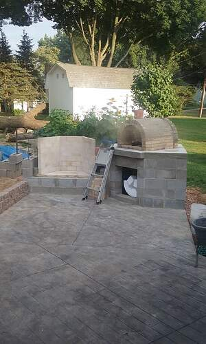 Outdoor Fireplace Pizza Oven Combo (6)