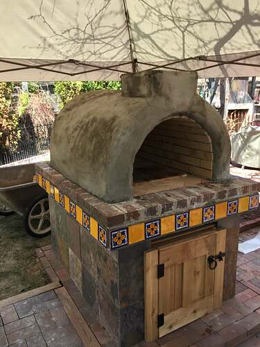 Homemade Outdoor Pizza Oven (38)