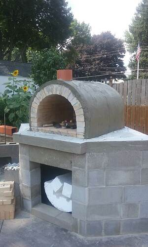 Outdoor Fireplace Pizza Oven Combo (9)