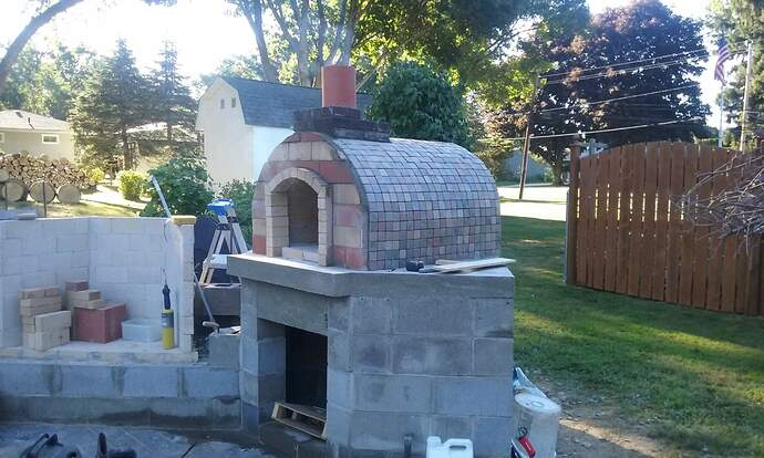 Outdoor Fireplace Pizza Oven Combo (14)