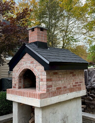 Pizza Oven Gabled Roof