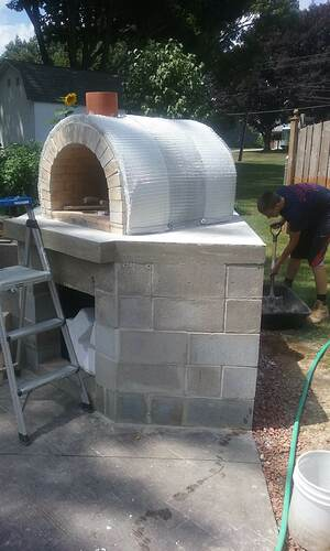 Outdoor Fireplace Pizza Oven Combo (8)
