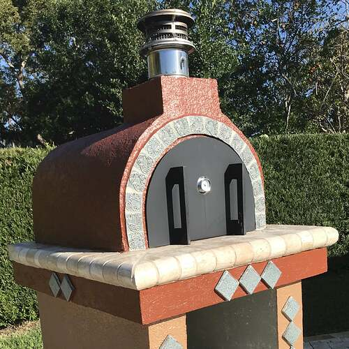 Pizza Oven Painted Stucco