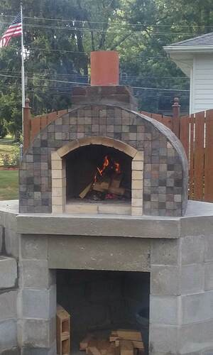 Outdoor Fireplace Pizza Oven Combo (30)