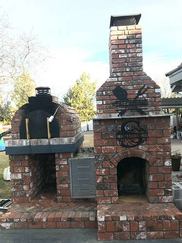 Pizza Oven Fireplace Combo (2)