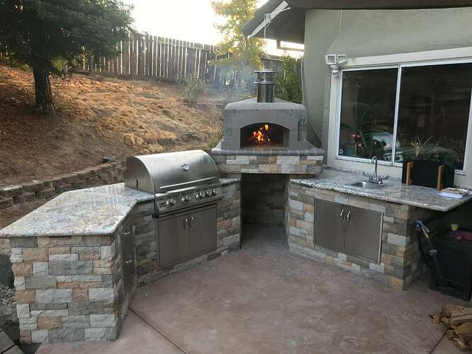 Gas Grill Pizza Oven