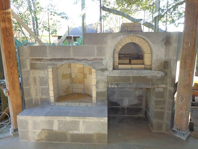 Outdoor Natural Stone Fireplace (16)
