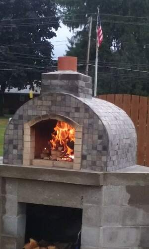 Outdoor Fireplace Pizza Oven Combo (15)