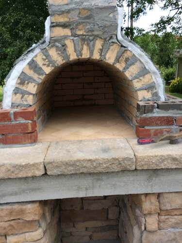 Making An Outdoor Pizza Oven (21)