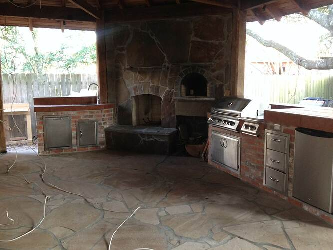 Outdoor Natural Stone Fireplace (21)