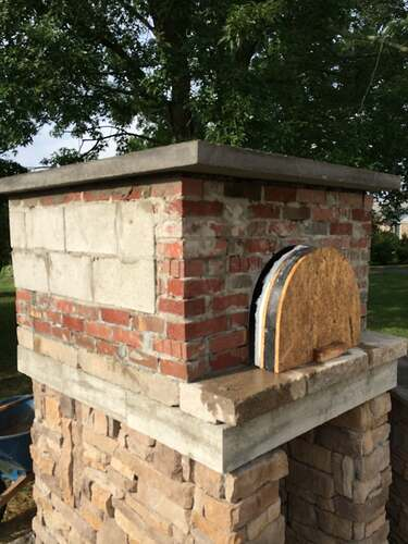 Making An Outdoor Pizza Oven (26)