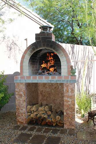 How To Build a Wood Fired Brick Oven (28)