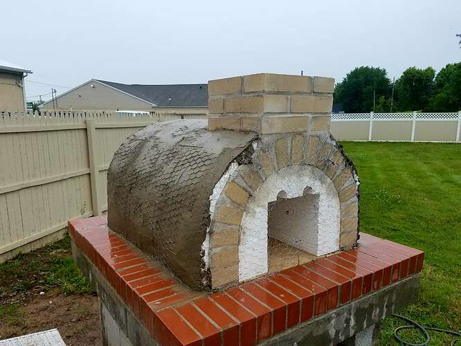 Making An Outdoor Oven (29)